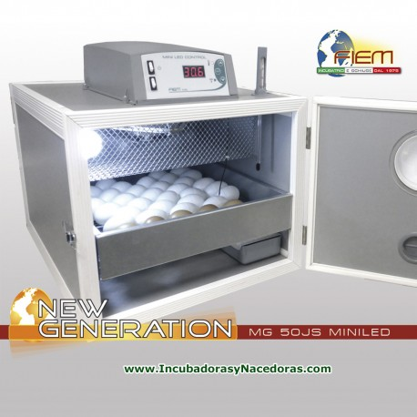 Incubadora Fiem MG50 Junior Special MINI LCD humedad nivel constante.