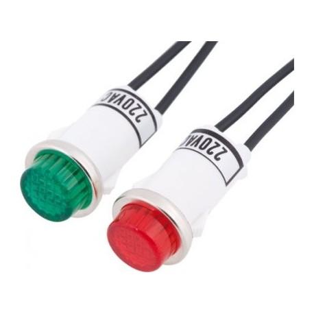 Lámpara neón con cable Ø 13 mm
