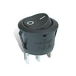 Interruptor negro para agujero redondo