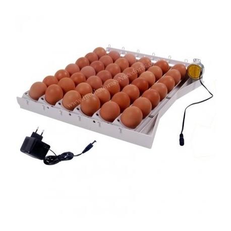 Sistema automático de volteo para 42 huevos 12 Voltios con adaptador