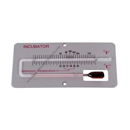 Termómetro de incubación sobre panel